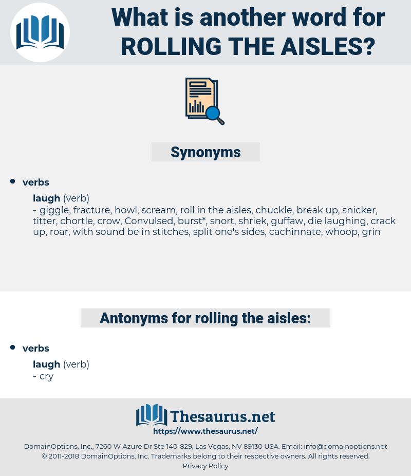 rolling the aisles, synonym rolling the aisles, another word for rolling the aisles, words like rolling the aisles, thesaurus rolling the aisles