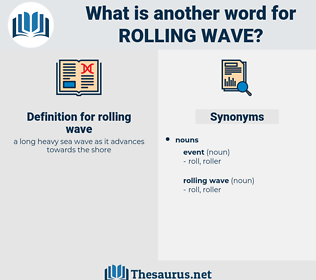 rolling wave, synonym rolling wave, another word for rolling wave, words like rolling wave, thesaurus rolling wave