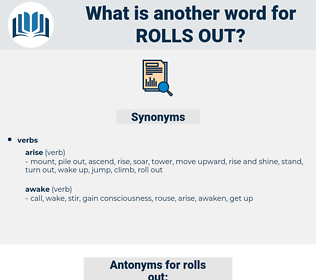 rolls out, synonym rolls out, another word for rolls out, words like rolls out, thesaurus rolls out