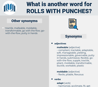rolls with punches, synonym rolls with punches, another word for rolls with punches, words like rolls with punches, thesaurus rolls with punches