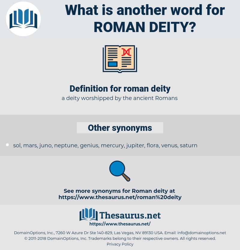 roman deity, synonym roman deity, another word for roman deity, words like roman deity, thesaurus roman deity