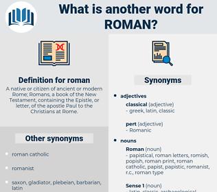 roman, synonym roman, another word for roman, words like roman, thesaurus roman