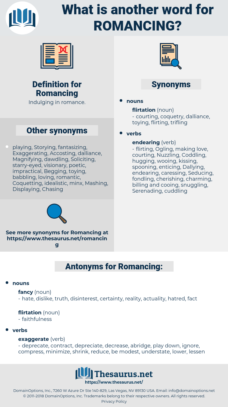 Romancing, synonym Romancing, another word for Romancing, words like Romancing, thesaurus Romancing
