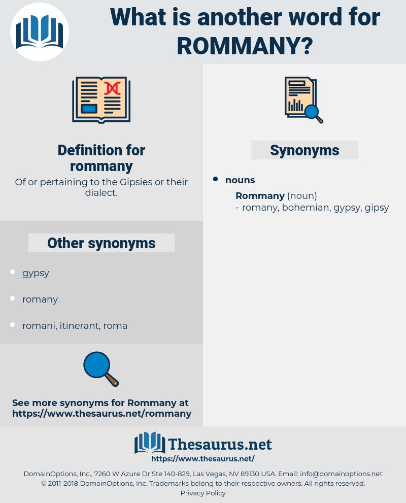 rommany, synonym rommany, another word for rommany, words like rommany, thesaurus rommany