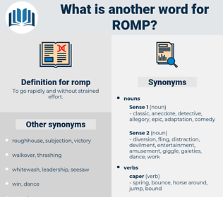 romp, synonym romp, another word for romp, words like romp, thesaurus romp
