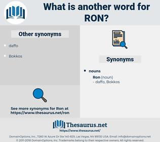 ron, synonym ron, another word for ron, words like ron, thesaurus ron