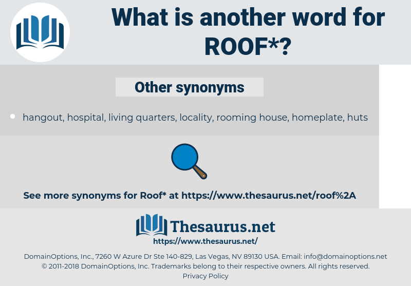 roof, synonym roof, another word for roof, words like roof, thesaurus roof