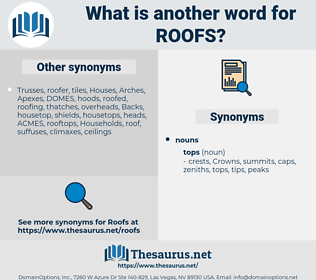 roofs, synonym roofs, another word for roofs, words like roofs, thesaurus roofs
