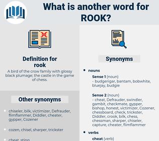 rook, synonym rook, another word for rook, words like rook, thesaurus rook