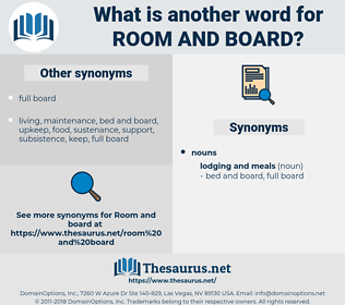 room and board, synonym room and board, another word for room and board, words like room and board, thesaurus room and board
