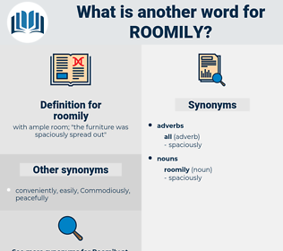 roomily, synonym roomily, another word for roomily, words like roomily, thesaurus roomily