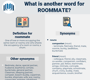 roommate, synonym roommate, another word for roommate, words like roommate, thesaurus roommate