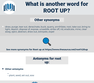 root up, synonym root up, another word for root up, words like root up, thesaurus root up