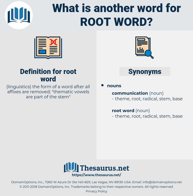 root word, synonym root word, another word for root word, words like root word, thesaurus root word