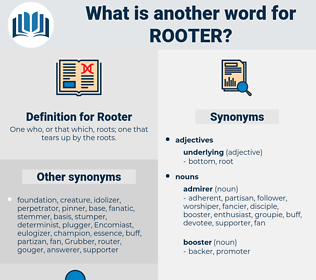 Rooter, synonym Rooter, another word for Rooter, words like Rooter, thesaurus Rooter