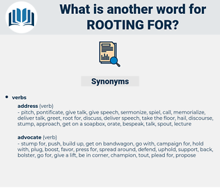 rooting for, synonym rooting for, another word for rooting for, words like rooting for, thesaurus rooting for