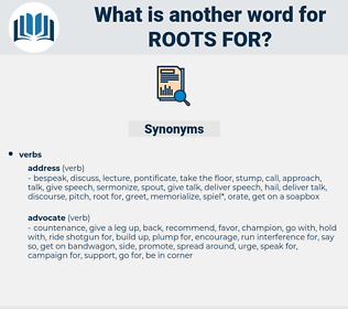 roots for, synonym roots for, another word for roots for, words like roots for, thesaurus roots for
