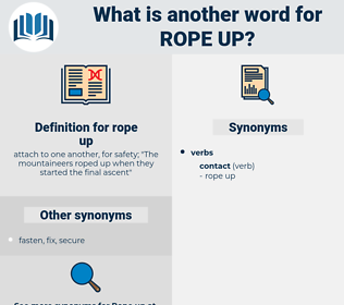 rope up, synonym rope up, another word for rope up, words like rope up, thesaurus rope up