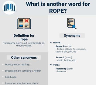 rope, synonym rope, another word for rope, words like rope, thesaurus rope