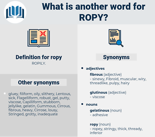 ropy, synonym ropy, another word for ropy, words like ropy, thesaurus ropy