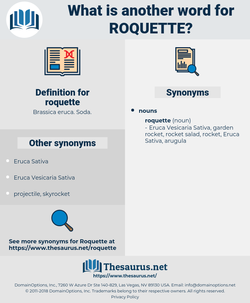 roquette, synonym roquette, another word for roquette, words like roquette, thesaurus roquette