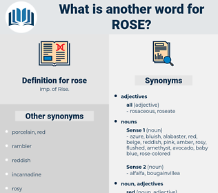 rose, synonym rose, another word for rose, words like rose, thesaurus rose