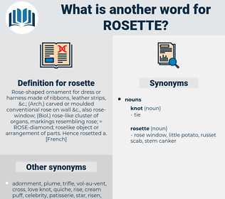 rosette, synonym rosette, another word for rosette, words like rosette, thesaurus rosette