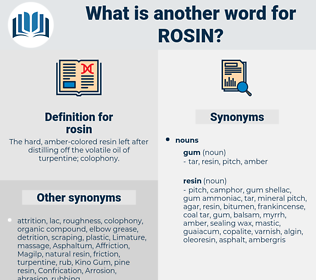 rosin, synonym rosin, another word for rosin, words like rosin, thesaurus rosin