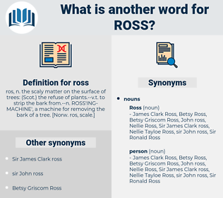 ross, synonym ross, another word for ross, words like ross, thesaurus ross