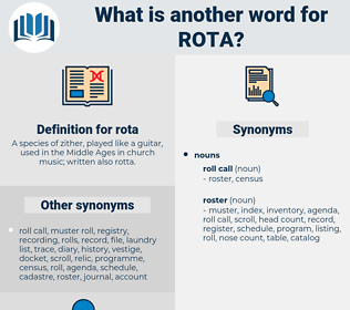 rota, synonym rota, another word for rota, words like rota, thesaurus rota