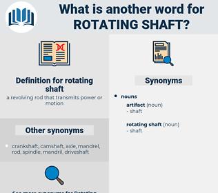 rotating shaft, synonym rotating shaft, another word for rotating shaft, words like rotating shaft, thesaurus rotating shaft