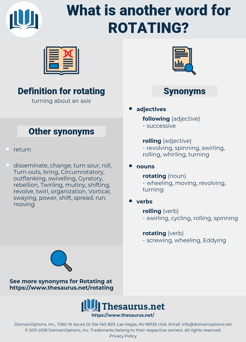 rotating, synonym rotating, another word for rotating, words like rotating, thesaurus rotating