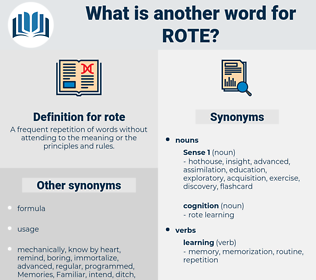 rote, synonym rote, another word for rote, words like rote, thesaurus rote
