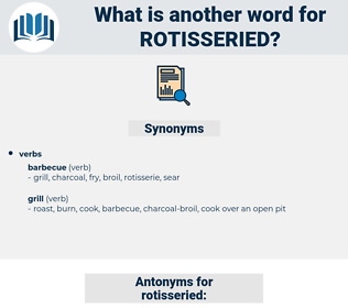 rotisseried, synonym rotisseried, another word for rotisseried, words like rotisseried, thesaurus rotisseried