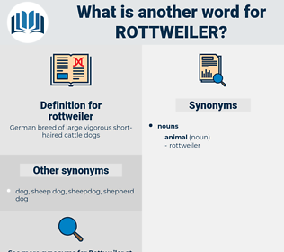 rottweiler, synonym rottweiler, another word for rottweiler, words like rottweiler, thesaurus rottweiler