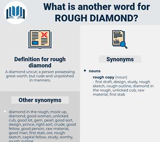 rough diamond, synonym rough diamond, another word for rough diamond, words like rough diamond, thesaurus rough diamond