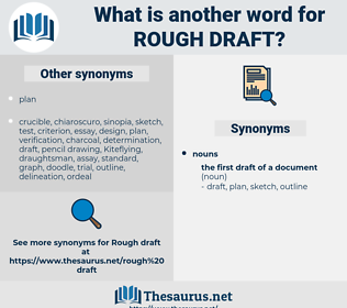 rough draft, synonym rough draft, another word for rough draft, words like rough draft, thesaurus rough draft