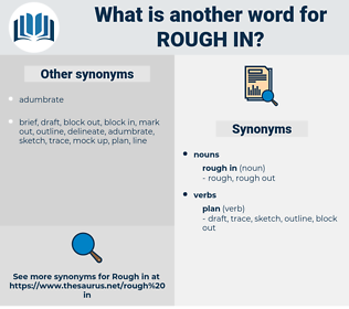 rough in, synonym rough in, another word for rough in, words like rough in, thesaurus rough in