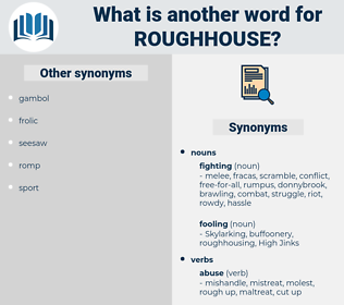roughhouse, synonym roughhouse, another word for roughhouse, words like roughhouse, thesaurus roughhouse