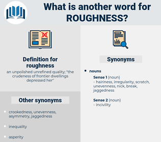 roughness, synonym roughness, another word for roughness, words like roughness, thesaurus roughness