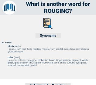 Rouging, synonym Rouging, another word for Rouging, words like Rouging, thesaurus Rouging
