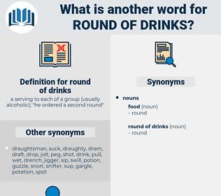 round of drinks, synonym round of drinks, another word for round of drinks, words like round of drinks, thesaurus round of drinks