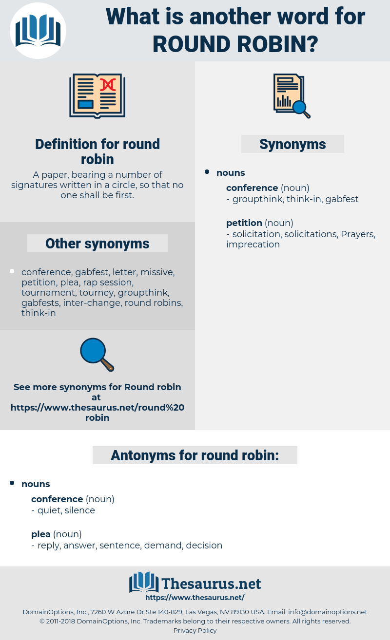 round robin, synonym round robin, another word for round robin, words like round robin, thesaurus round robin