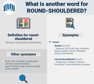 round-shouldered, synonym round-shouldered, another word for round-shouldered, words like round-shouldered, thesaurus round-shouldered