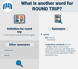 round trip, synonym round trip, another word for round trip, words like round trip, thesaurus round trip