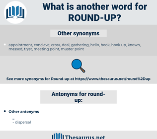 round up, synonym round up, another word for round up, words like round up, thesaurus round up