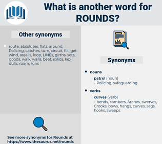 rounds, synonym rounds, another word for rounds, words like rounds, thesaurus rounds