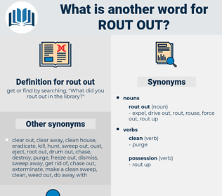 rout out, synonym rout out, another word for rout out, words like rout out, thesaurus rout out