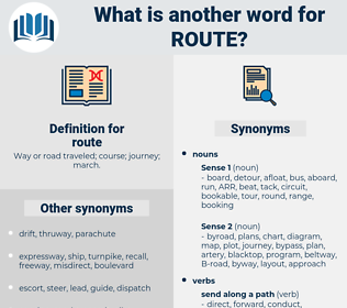 route, synonym route, another word for route, words like route, thesaurus route