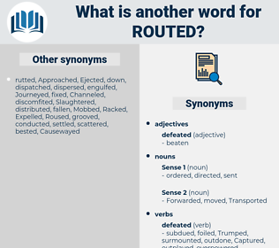 routed, synonym routed, another word for routed, words like routed, thesaurus routed